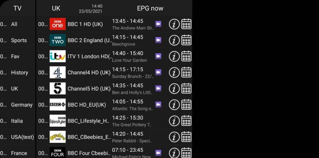 AirTV Live Channels