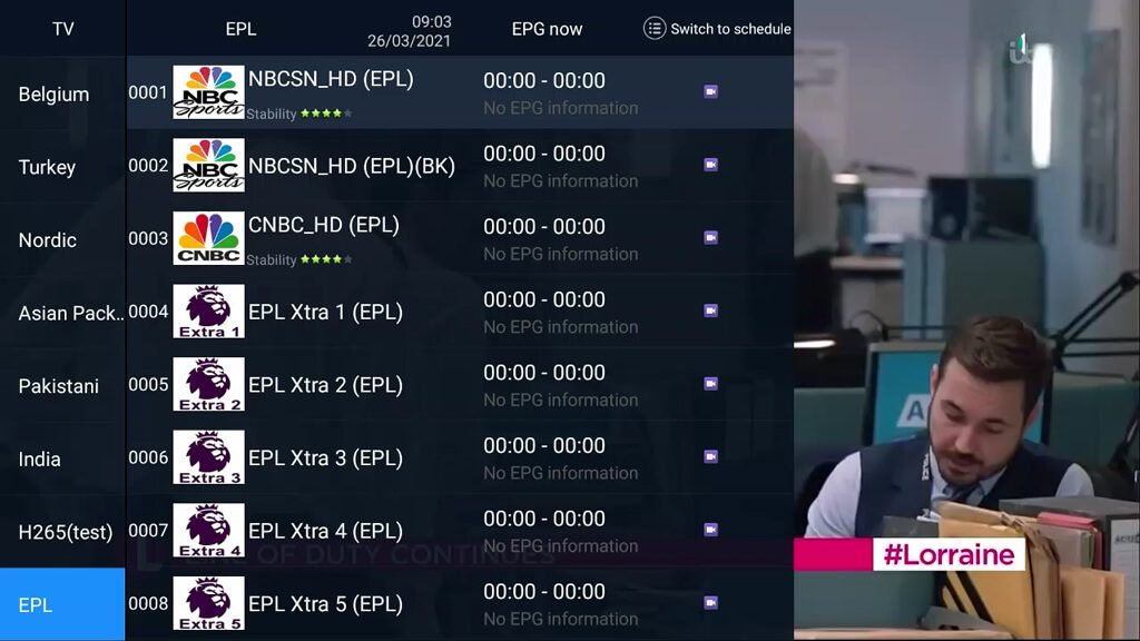 AirTV IPTV EPL Live Channels